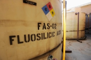 Tanks of hydrofluorosilicic acid, aka fluoride (via The Austin Chronicle).